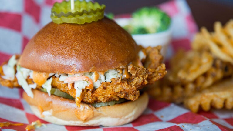 Nashville hot chicken sandwich from Hot Chix