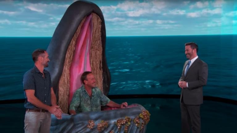 Michael Packard Cape Cod whale Jimmy Kimmel