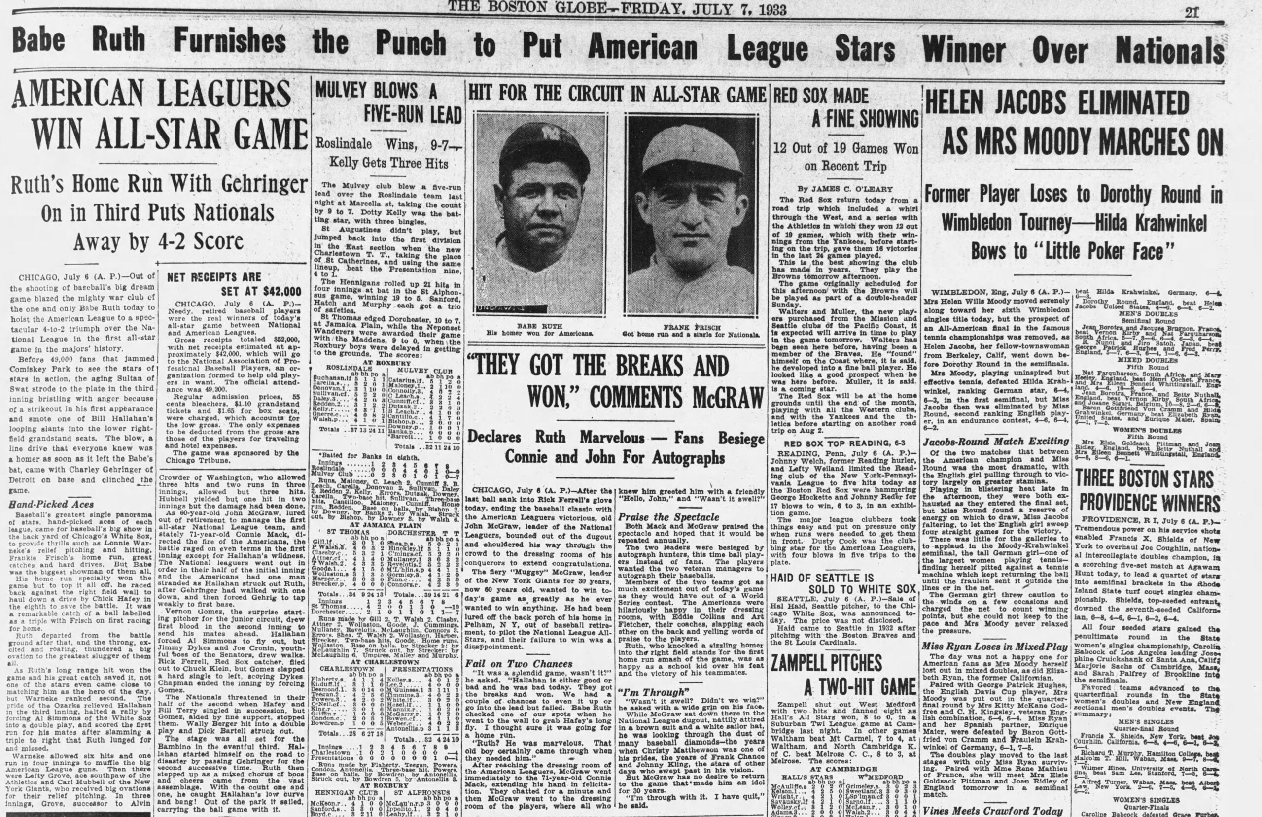 1933 Globe All-Star Game