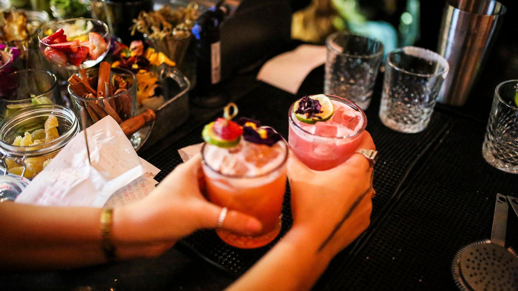 Cocktails at Yellow Door Taqueria
