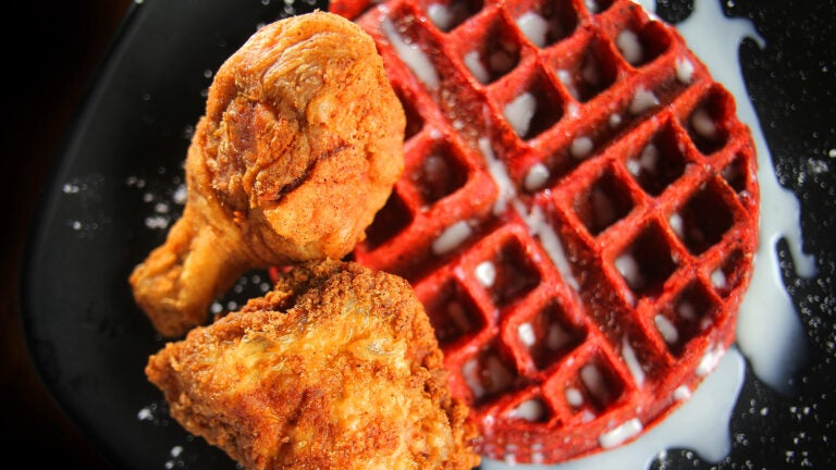 Chicken and waffles at Family Affair