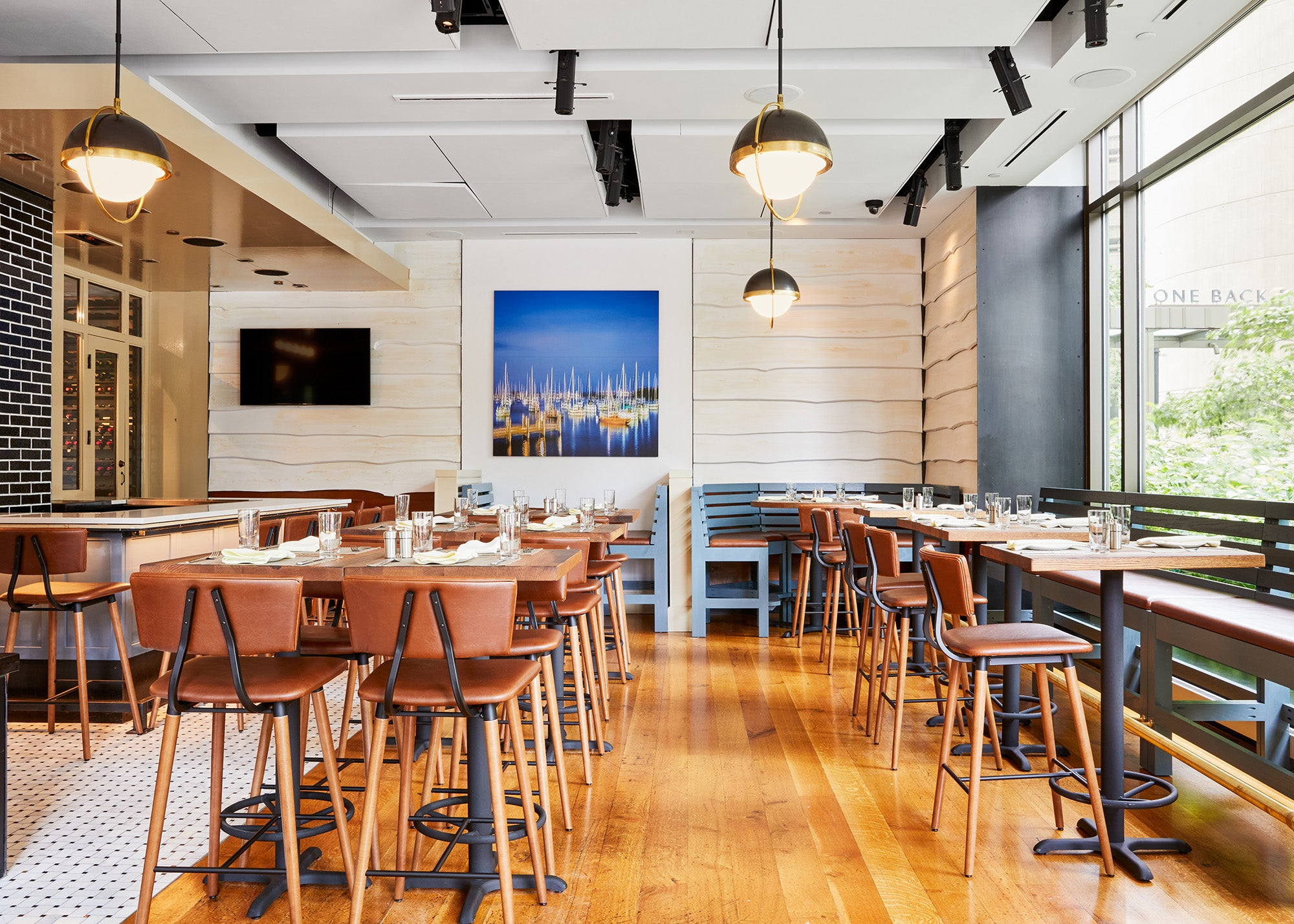 First floor dining room at The Banks Fish House