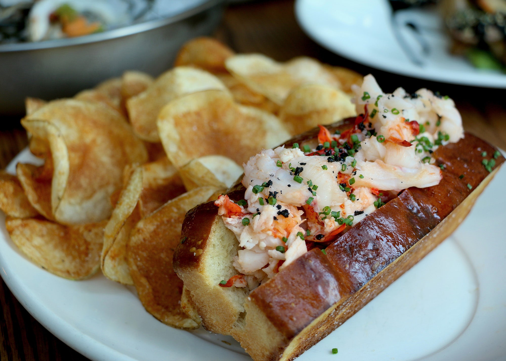 Lobster roll at The Banks Fish House
