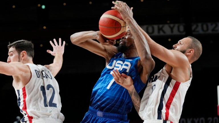 US bounces back from Olympic-opening loss, routs Iran 120-66 2