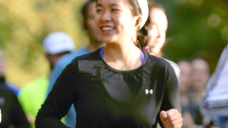 Shevanna Yee running a half marathon.