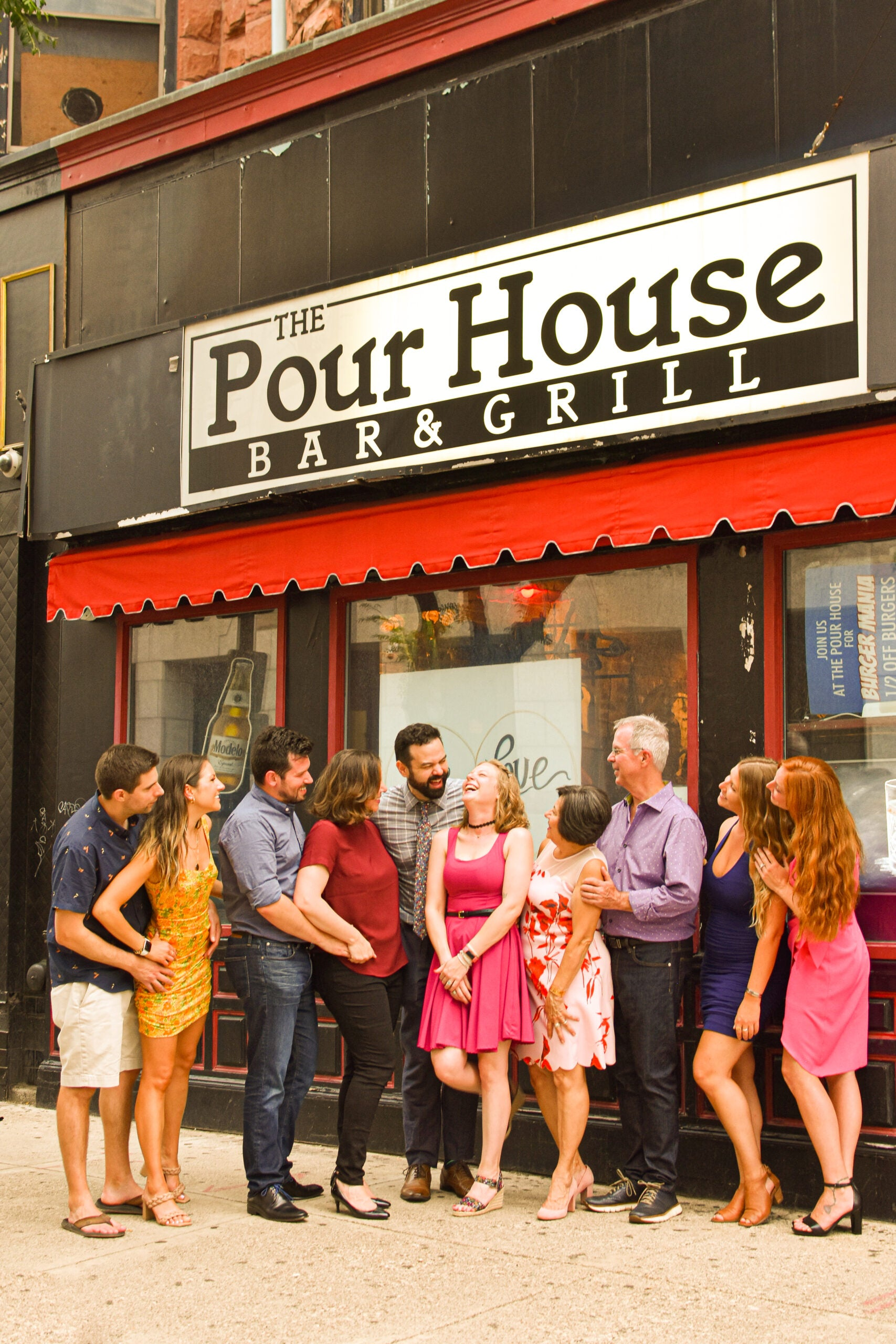 Matt Champlin and Christine Corning got engaged at Pour House