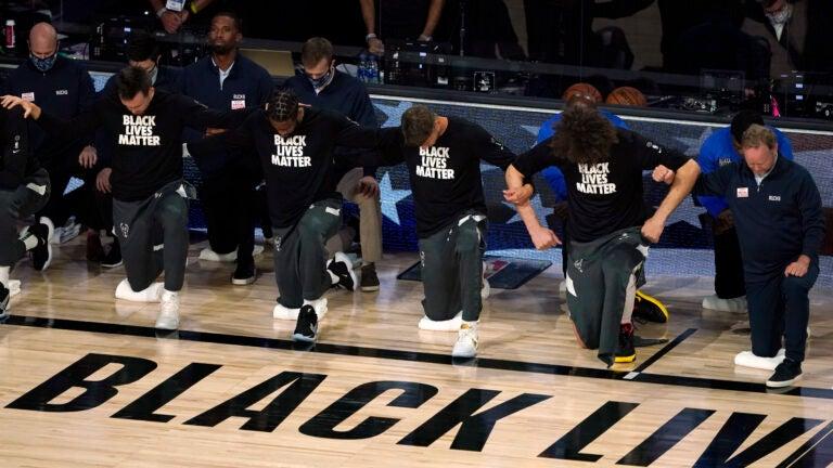 NBA protest Bucks