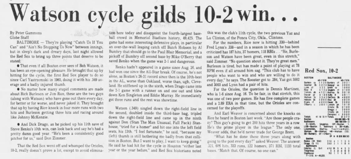 Bob Watson Cycle