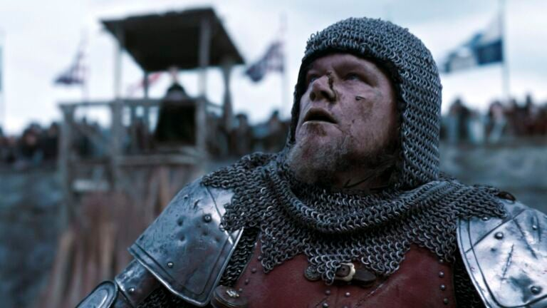 "Matt Damon in ""The Last Duel"""