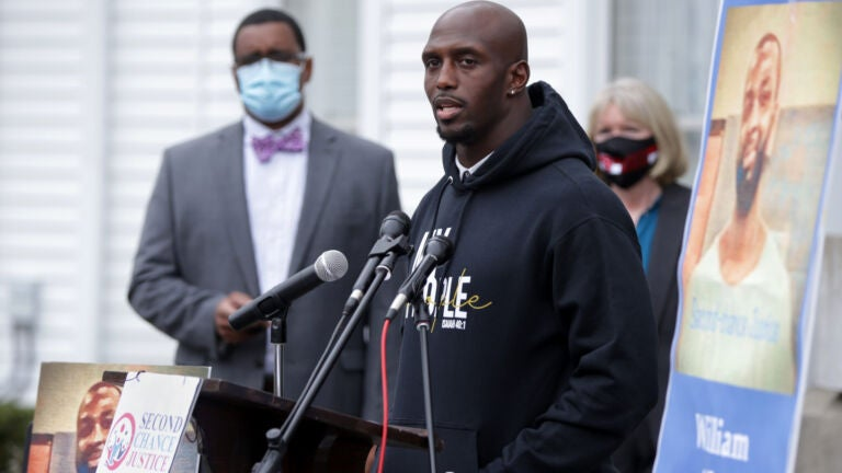 Charlie Baker has never commuted a prison sentence. Devin McCourty is pushing for that to change.