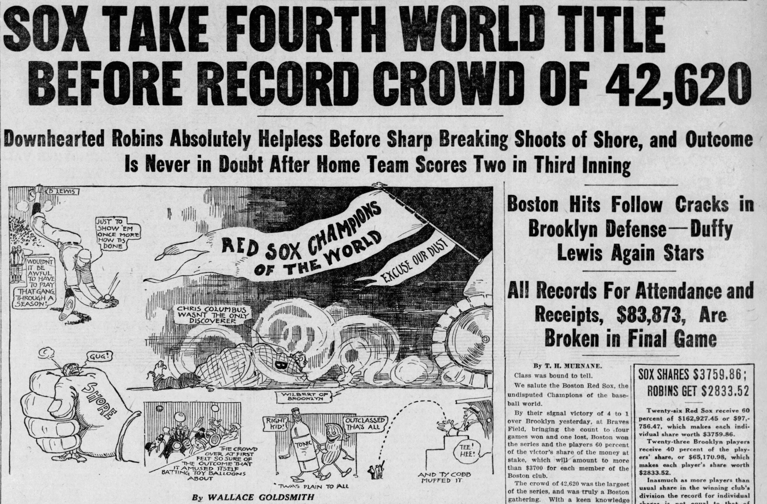 1916 Red Sox World Series