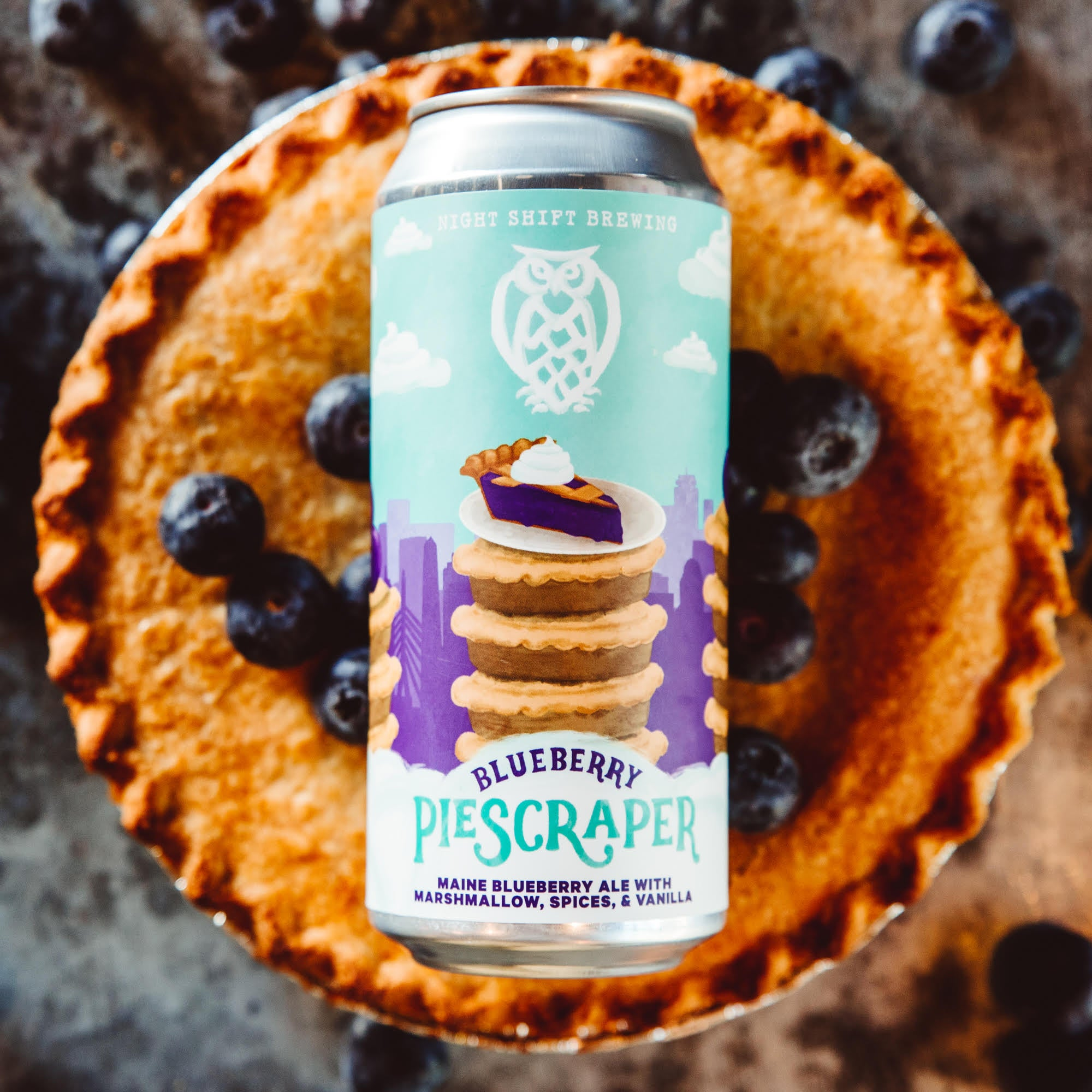 Blueberry Piescraper at Night Shift Brewing