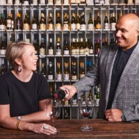 TJ and Hadley Douglas, owners of The Urban Grape