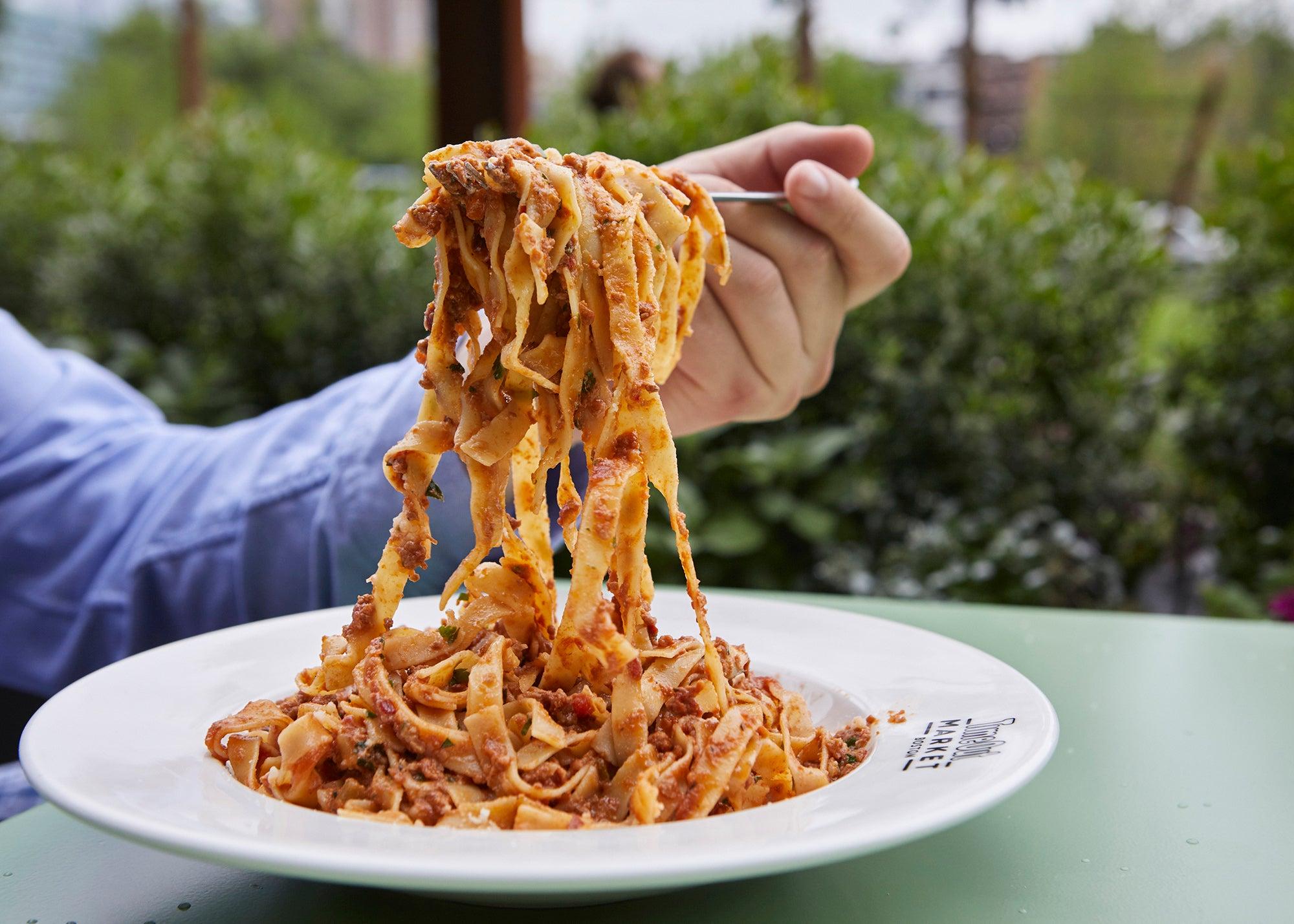 Italian kitchens in Time Out Market Boston.