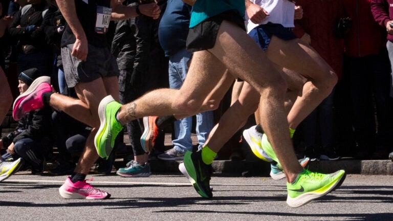 Boston Marathon runners.